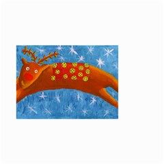Rudolph The Reindeer Small Garden Flag (two Sides)
