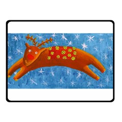 Rudolph The Reindeer Double Sided Fleece Blanket (Small)