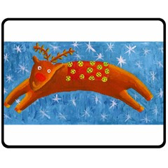 Rudolph The Reindeer Double Sided Fleece Blanket (Medium)