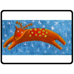 Rudolph The Reindeer Double Sided Fleece Blanket (Large)
