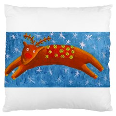 Rudolph The Reindeer Standard Flano Cushion Cases (Two Sides)