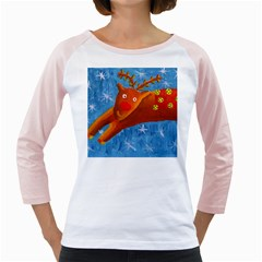 Rudolph The Reindeer Girly Raglans