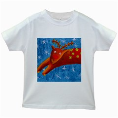 Rudolph The Reindeer Kids White T-Shirts