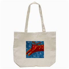Rudolph The Reindeer Tote Bag (Cream)