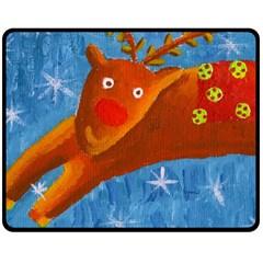 Rudolph The Reindeer Fleece Blanket (Medium)