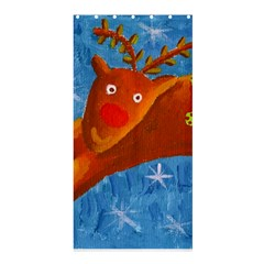Rudolph The Reindeer Shower Curtain 36  x 72  (Stall)
