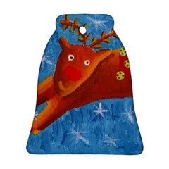 Rudolph The Reindeer Bell Ornament (2 Sides)