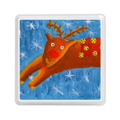 Rudolph The Reindeer Memory Card Reader (square)