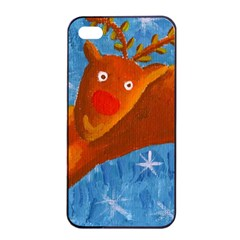 Rudolph The Reindeer Apple Iphone 4/4s Seamless Case (black)