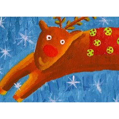 Rudolph The Reindeer Birthday Cake 3D Greeting Card (7x5)