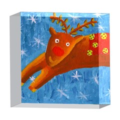 Rudolph The Reindeer 5  x 5  Acrylic Photo Blocks
