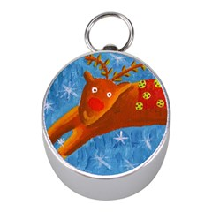 Rudolph The Reindeer Mini Silver Compasses