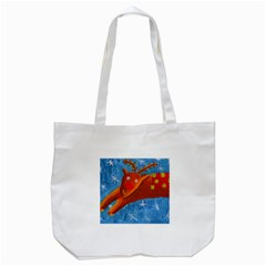 Rudolph The Reindeer Tote Bag (White)