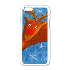 Rudolph The Reindeer Apple iPhone 6 White Enamel Case