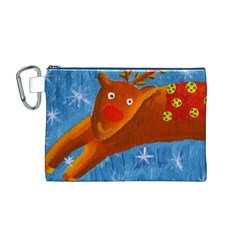 Rudolph The Reindeer Canvas Cosmetic Bag (M)