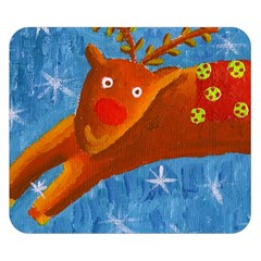 Rudolph The Reindeer Double Sided Flano Blanket (small)