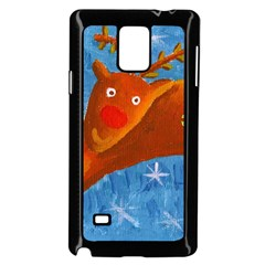 Rudolph The Reindeer Samsung Galaxy Note 4 Case (Black)
