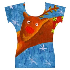 Rudolph The Reindeer Women s Cap Sleeve Top