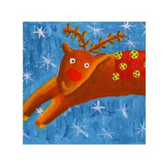 Rudolph The Reindeer Small Satin Scarf (Square)