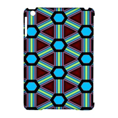 Stripes And Hexagon Pattern Apple Ipad Mini Hardshell Case (compatible With Smart Cover)