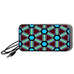 Stripes And Hexagon Pattern Portable Speaker