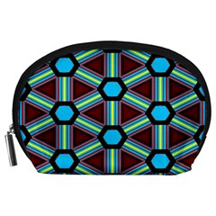 Stripes and hexagon pattern Accessory Pouch