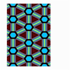 Stripes And Hexagon Pattern Small Garden Flag