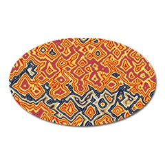 Red Blue Yellow Chaos Magnet (oval)