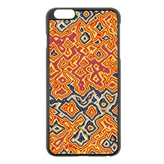 Red Blue Yellow Chaos Apple Iphone 6 Plus Black Enamel Case
