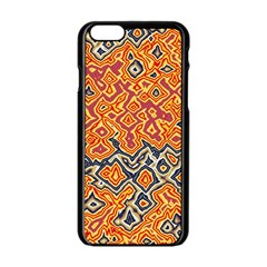 Red Blue Yellow Chaos Apple Iphone 6 Black Enamel Case