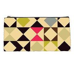 Rhombus And Triangles Pattern Pencil Case
