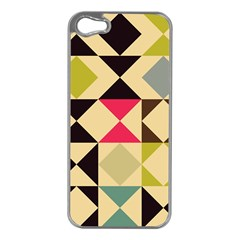 Rhombus And Triangles Pattern Apple Iphone 5 Case (silver)