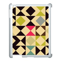 Rhombus And Triangles Pattern Apple Ipad 3/4 Case (white)