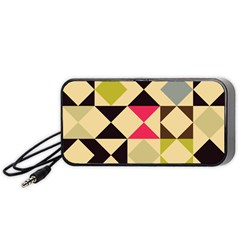 Rhombus And Triangles Pattern Portable Speaker