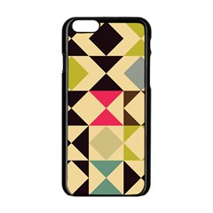 Rhombus And Triangles Pattern Apple Iphone 6 Black Enamel Case