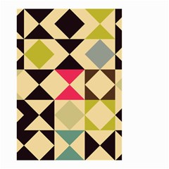 Rhombus and triangles pattern Small Garden Flag