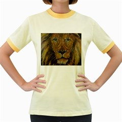 Cecil The African Lion Women s Fitted Ringer T Shirts