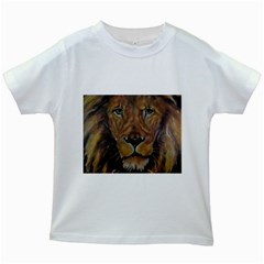 Cecil The African Lion Kids White T Shirts