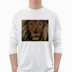 Cecil The African Lion White Long Sleeve T-Shirts