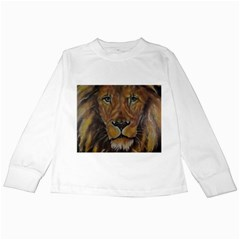 Cecil The African Lion Kids Long Sleeve T-Shirts