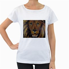 Cecil The African Lion Women s Loose-Fit T-Shirt (White)