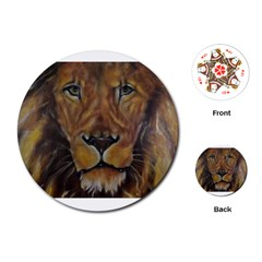 Cecil The African Lion Playing Cards (Round)