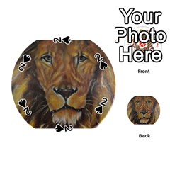 Cecil The African Lion Playing Cards 54 (round)