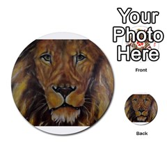 Cecil The African Lion Multi-purpose Cards (Round)