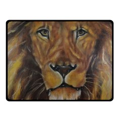 Cecil The African Lion Fleece Blanket (Small)