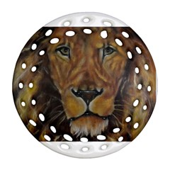 Cecil The African Lion Ornament (round Filigree)