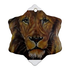 Cecil The African Lion Snowflake Ornament (2 Side)