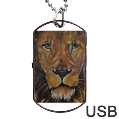 Cecil The African Lion Dog Tag USB Flash (Two Sides)