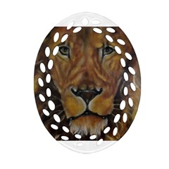 Cecil The African Lion Oval Filigree Ornament (2-Side)