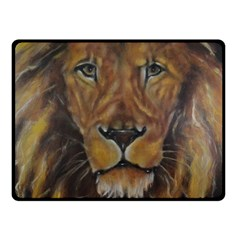 Cecil The African Lion Double Sided Fleece Blanket (Small)